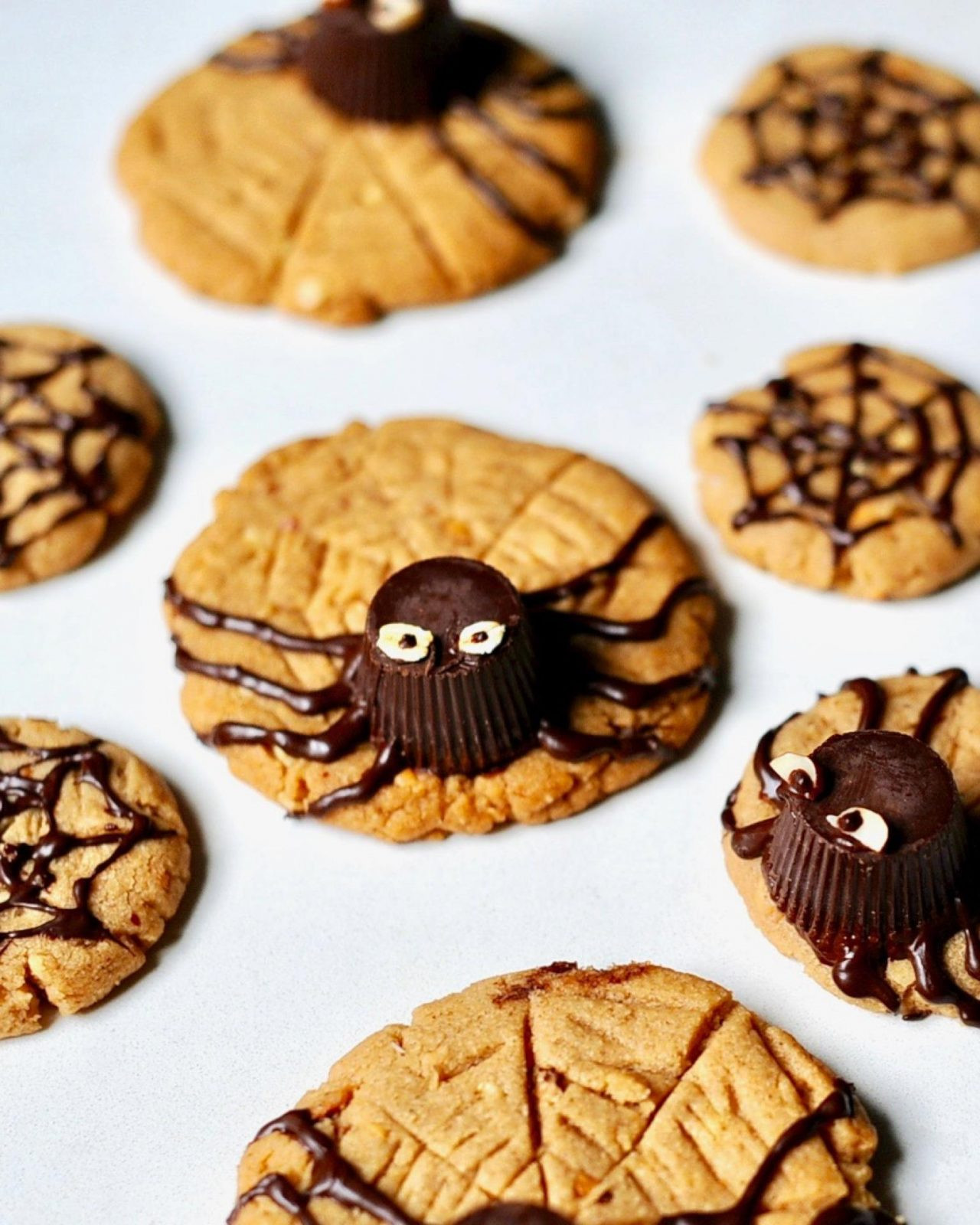 Vegan Halloween Cookies  Peanut Butter Spider Cookies for Halloween Vegan Gluten
