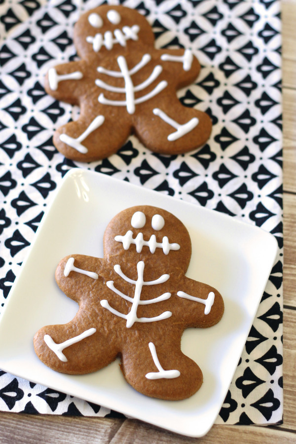 Vegan Halloween Cookies  gluten free vegan gingerbread skeleton cookies Sarah