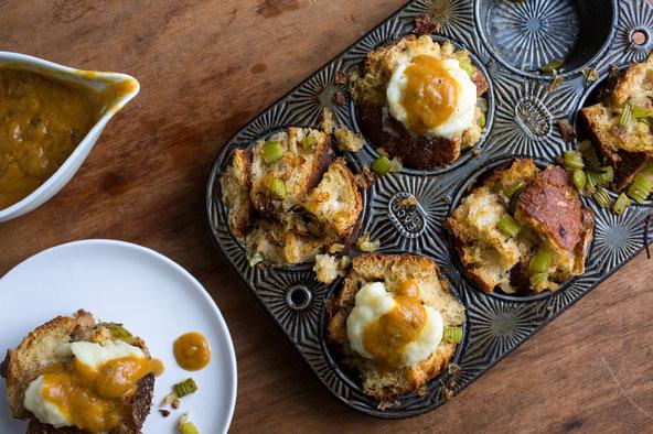 Vegan Stuffing Recipes For Thanksgiving  Ve arian Thanksgiving Stuffing Muffins The New York Times