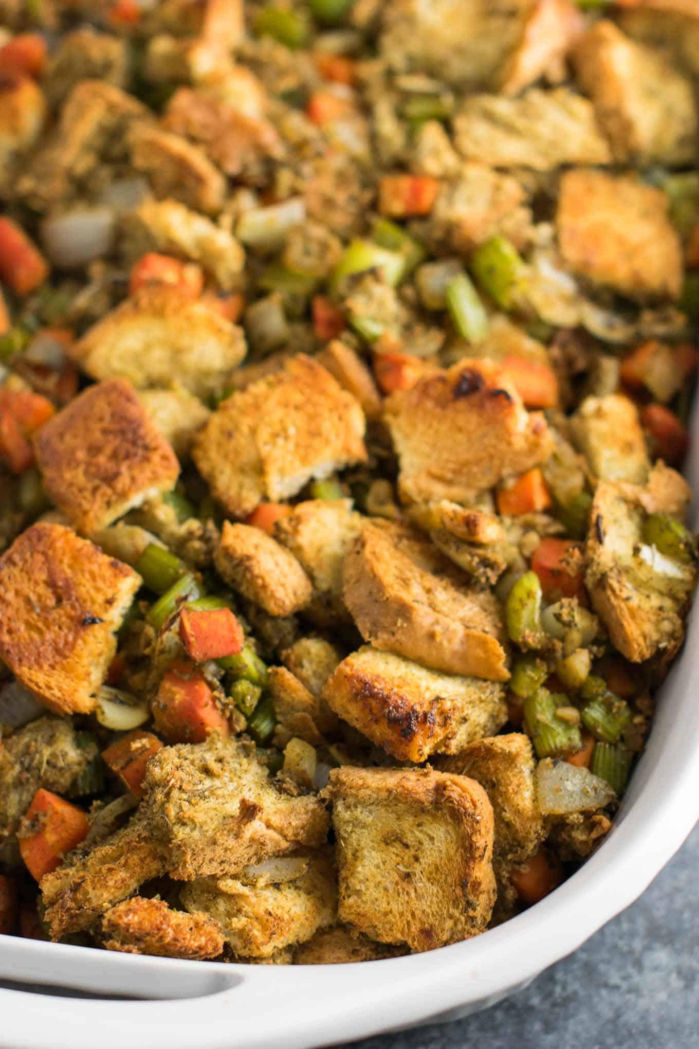 Vegan Stuffing Recipes For Thanksgiving  Easy Vegan Stuffing Recipe gluten free dairy free