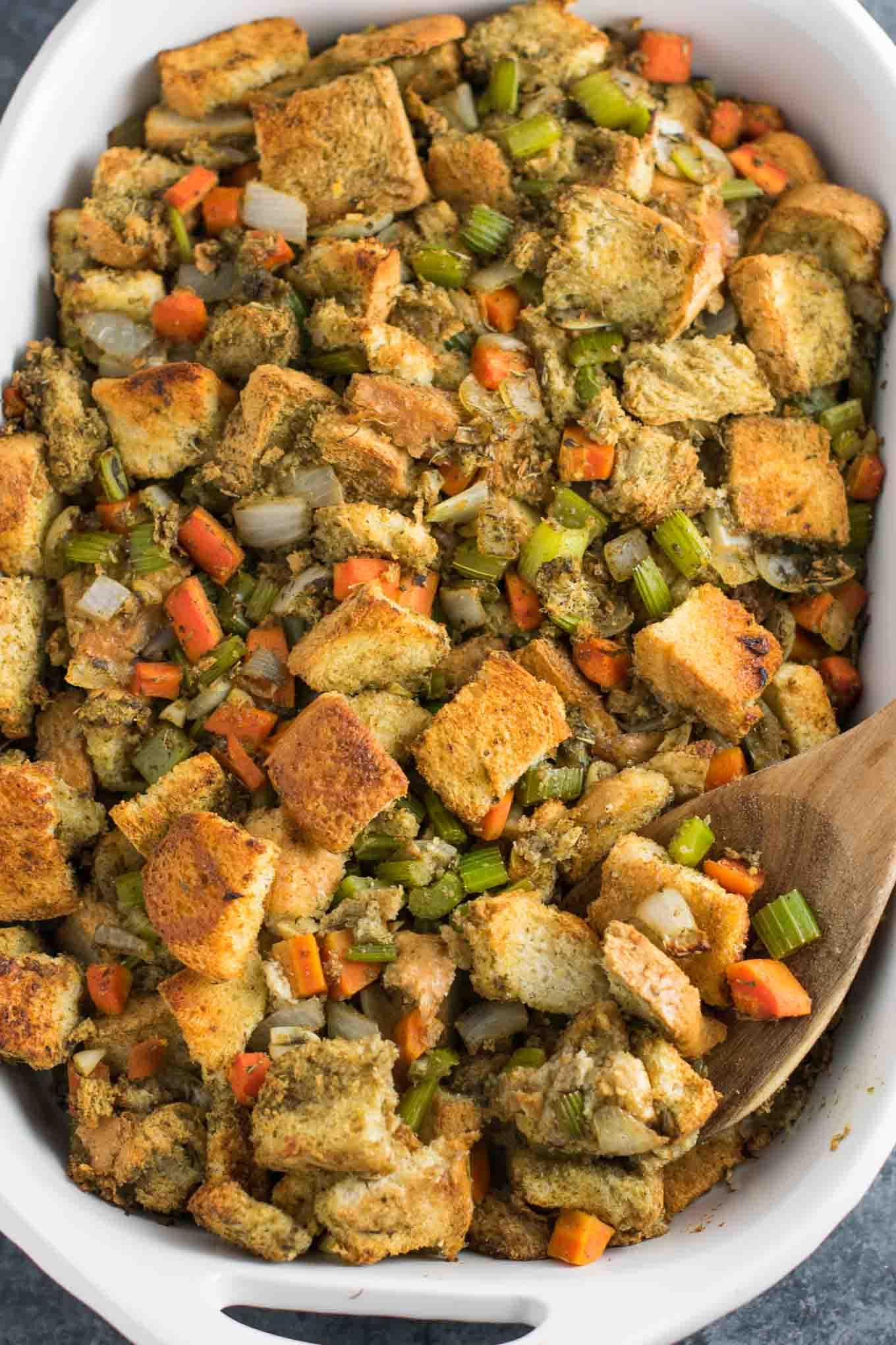Vegan Stuffing Recipes Thanksgiving  Easy Vegan Stuffing Recipe gluten free dairy free