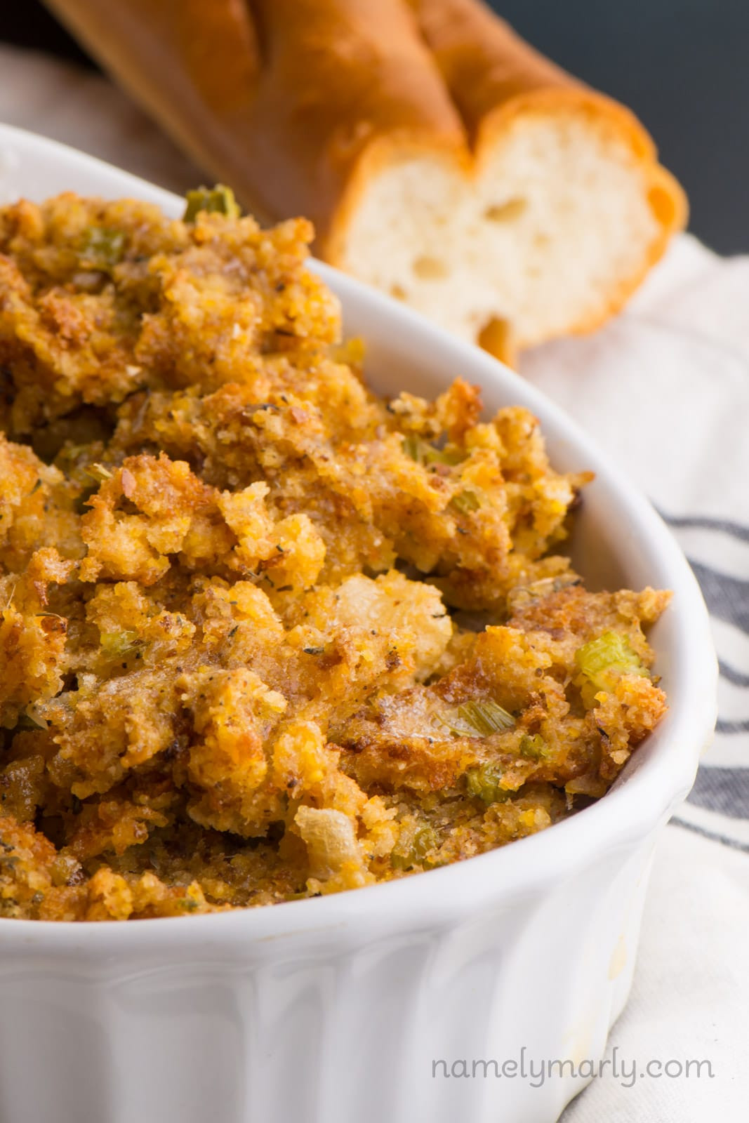 Vegan Thanksgiving Dressing  Best Ever Easy Vegan Stuffing Recipe Namely Marly