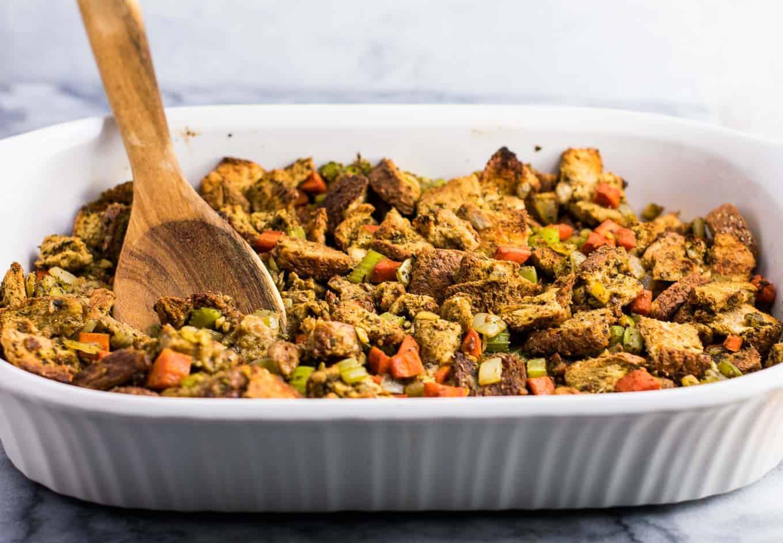 Vegan Thanksgiving Dressing  The Best Easy Vegan Stuffing Recipe Build Your Bite