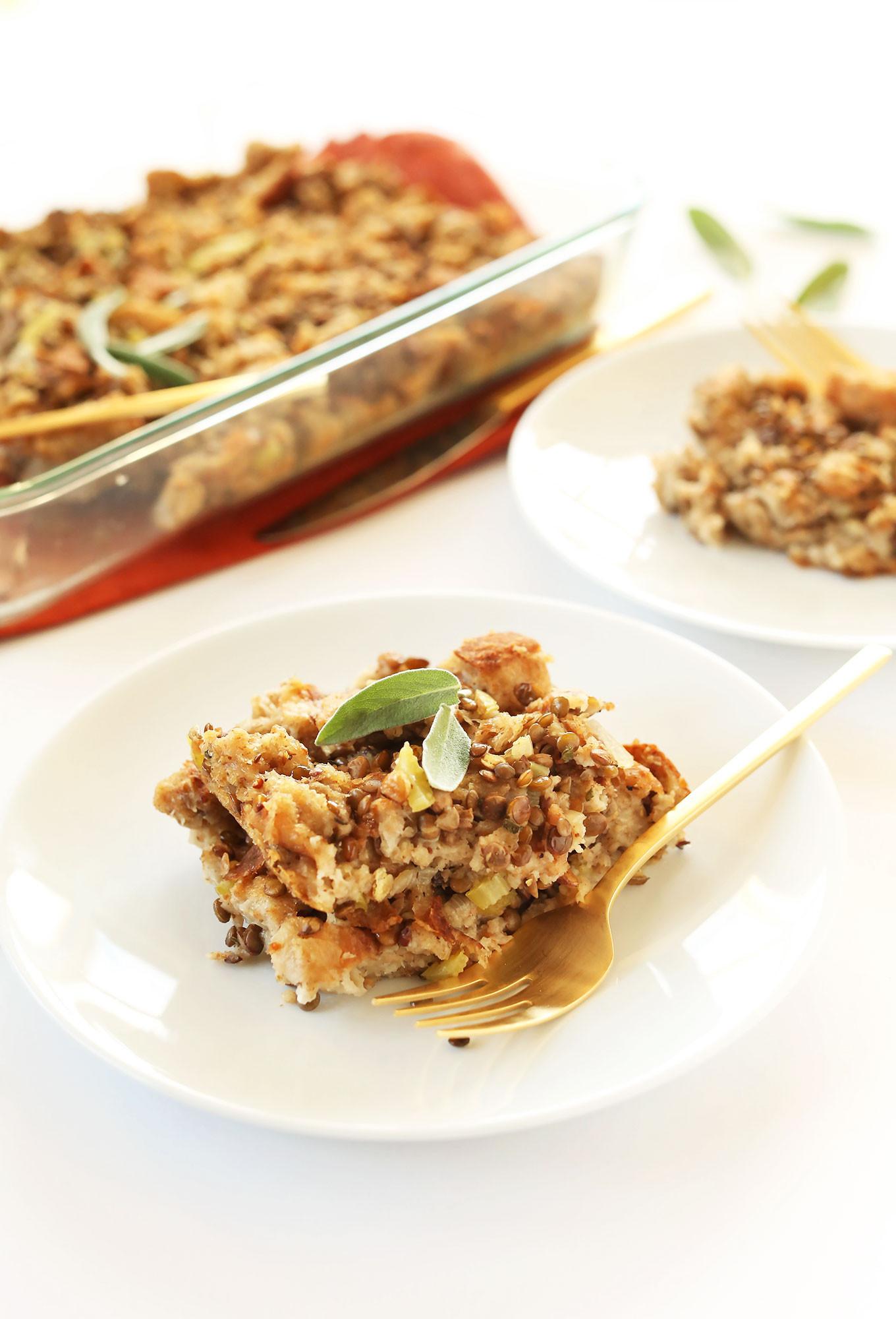 Vegan Thanksgiving Dressing  Simple Vegan Stuffing
