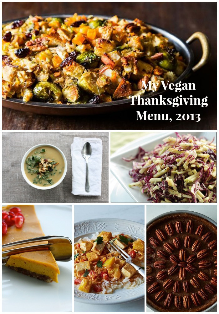 Vegan Thanksgiving Menu  My Vegan Thanksgiving Menu 2013