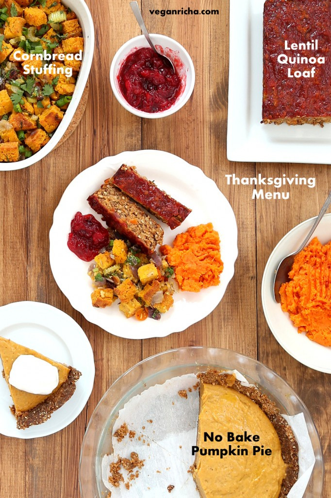 Vegan Thanksgiving Pie  Vegan Lentil Quinoa Loaf Vegan Cornbread Stuffing Spicy