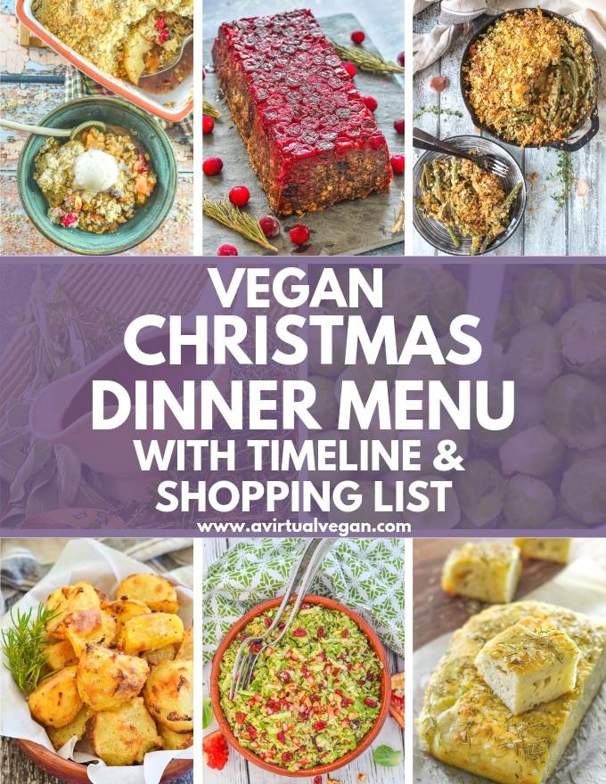 Vegetarian Christmas Dinner Menu  Vegan Christmas Dinner Menu Shopping List & Timeline A