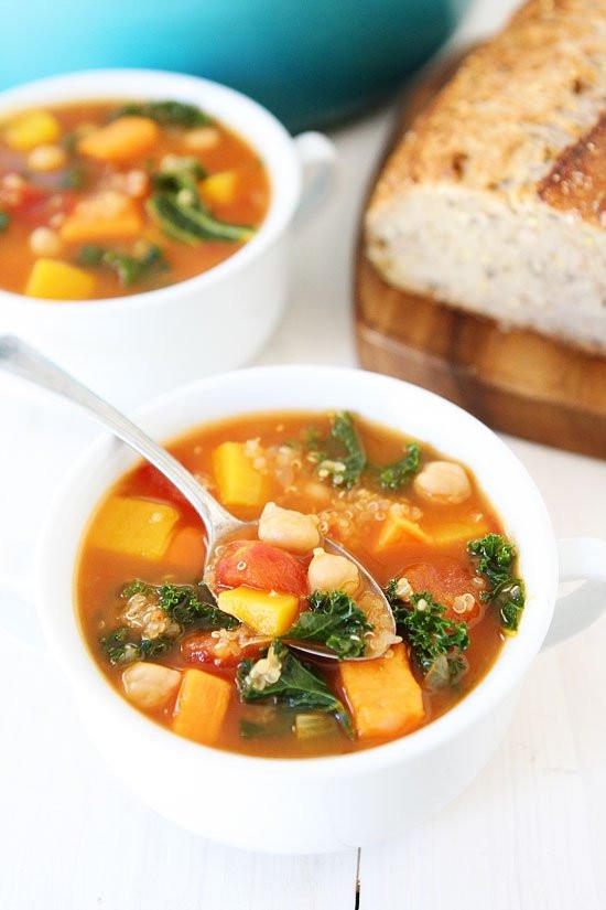 Vegetarian Fall Recipes  Fall Ve able Quinoa Soup Recipe