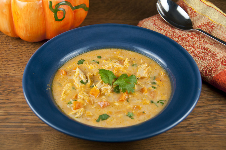 Vegetarian Fall Soup Recipes  Hearty Chicken Pumpkin Soup
