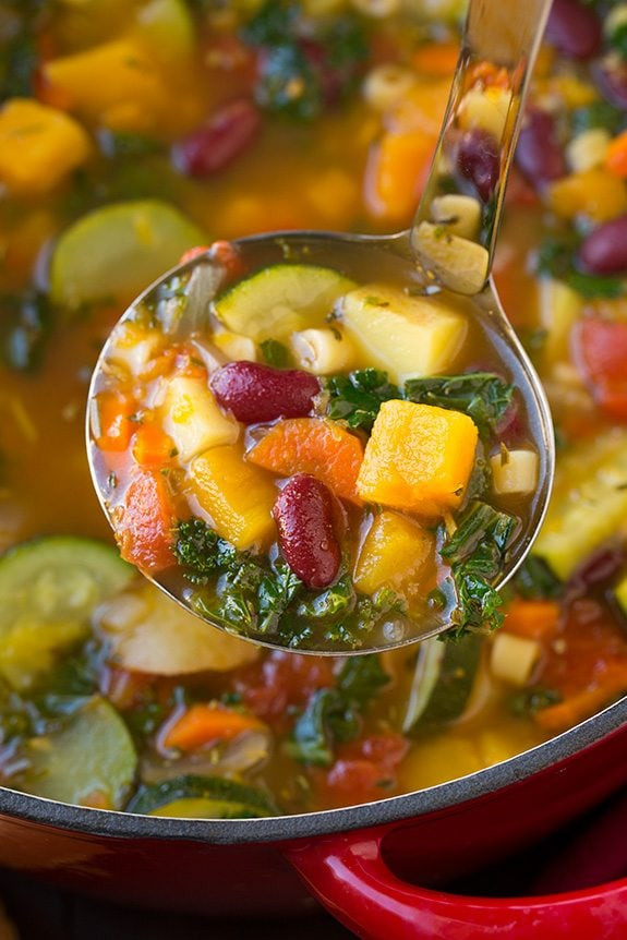 Vegetarian Fall Soup Recipes  Autumn Minestrone Soup Cooking Classy