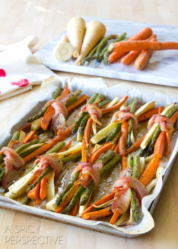Vegetarian Sides For Thanksgiving  Oven Roasted Ve ables with Maple Glaze A Spicy Perspective