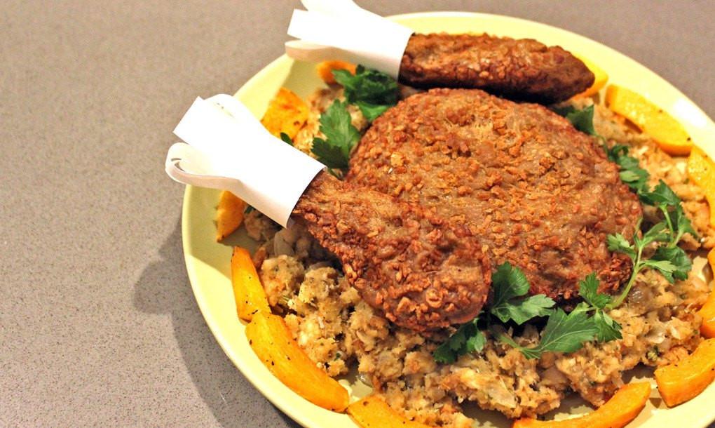 Vegetarian Thanksgiving Dinner Recipes  Make your own tasty ve arian turkey for Thanksgiving