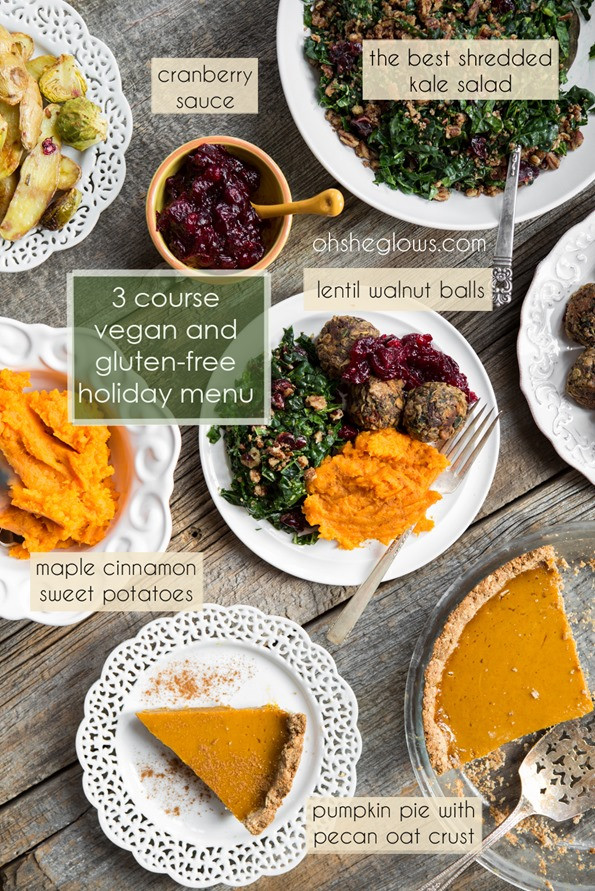 Vegetarian Thanksgiving Menu  3 Course Vegan and Gluten Free Holiday Menu – Step by step