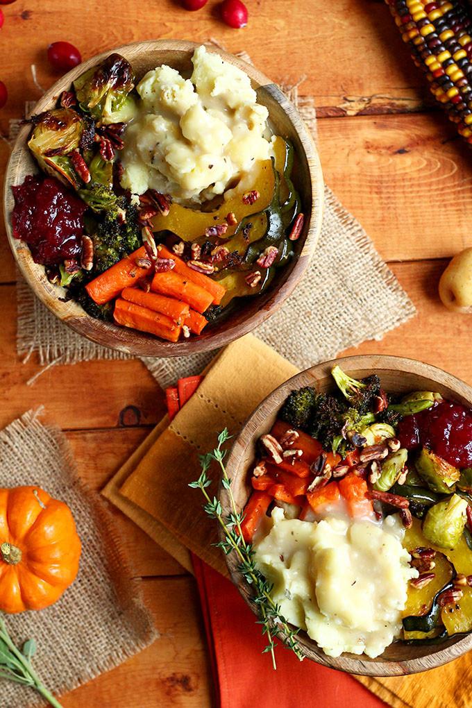 Vegetarian Thanksgiving Menus  Roasted Vegan Thanksgiving Bowl I LOVE VEGAN