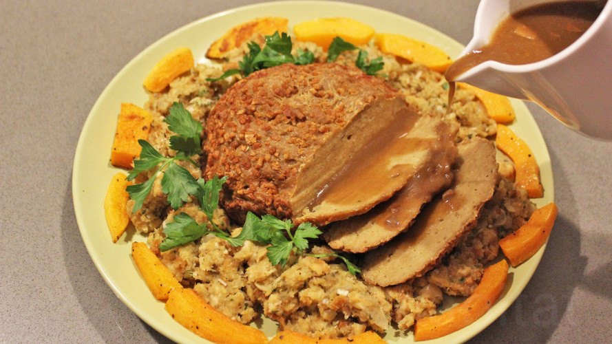 Vegetarian Turkey Thanksgiving  Make your own tasty ve arian turkey for Thanksgiving