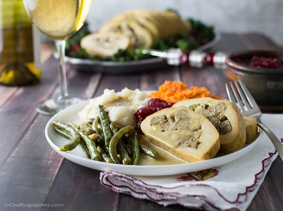 Vegetarian Turkey Thanksgiving  Vegan Turkey Roll Cheftographer