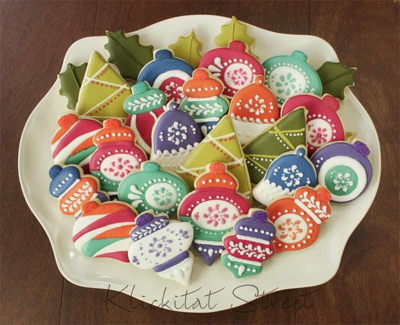 Vintage Christmas Cookies  Retro Christmas Ornament Cookies
