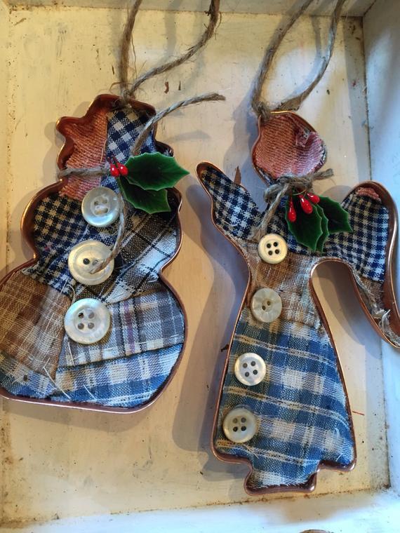 Vintage Christmas Cookies  Vintage quilt Christmas cookie cutter ornament