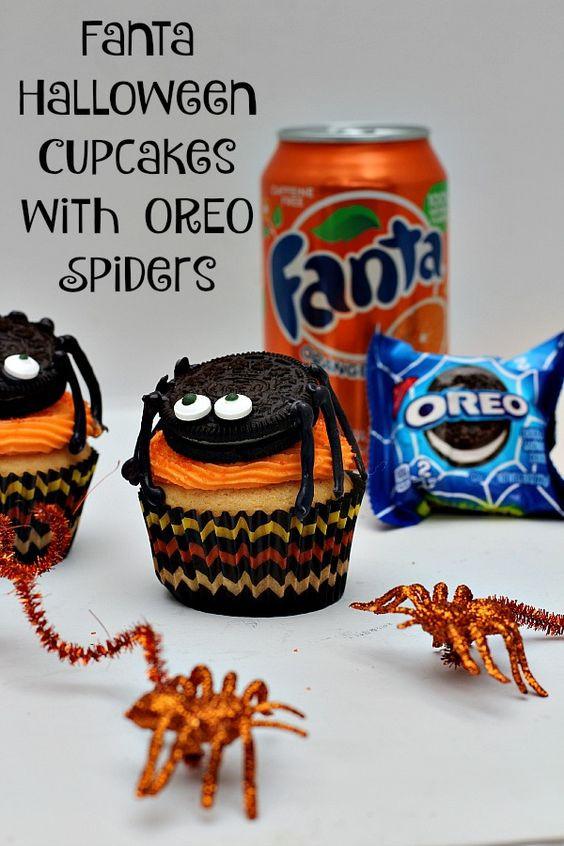 Walmart Halloween Cupcakes  Halloween cupcakes Spider and Oreo on Pinterest