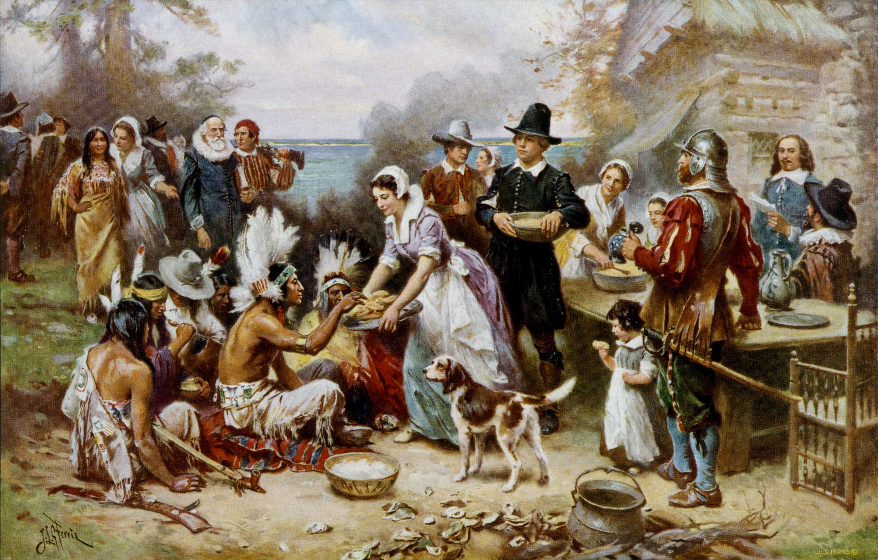 Was Turkey Served At The First Thanksgiving  Progressive Charlestown November 2013