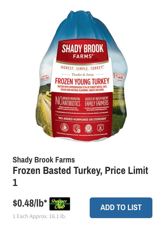 Wegmans Thanksgiving Turkey  pare Local Turkey Prices for your Thanksgiving Dinner