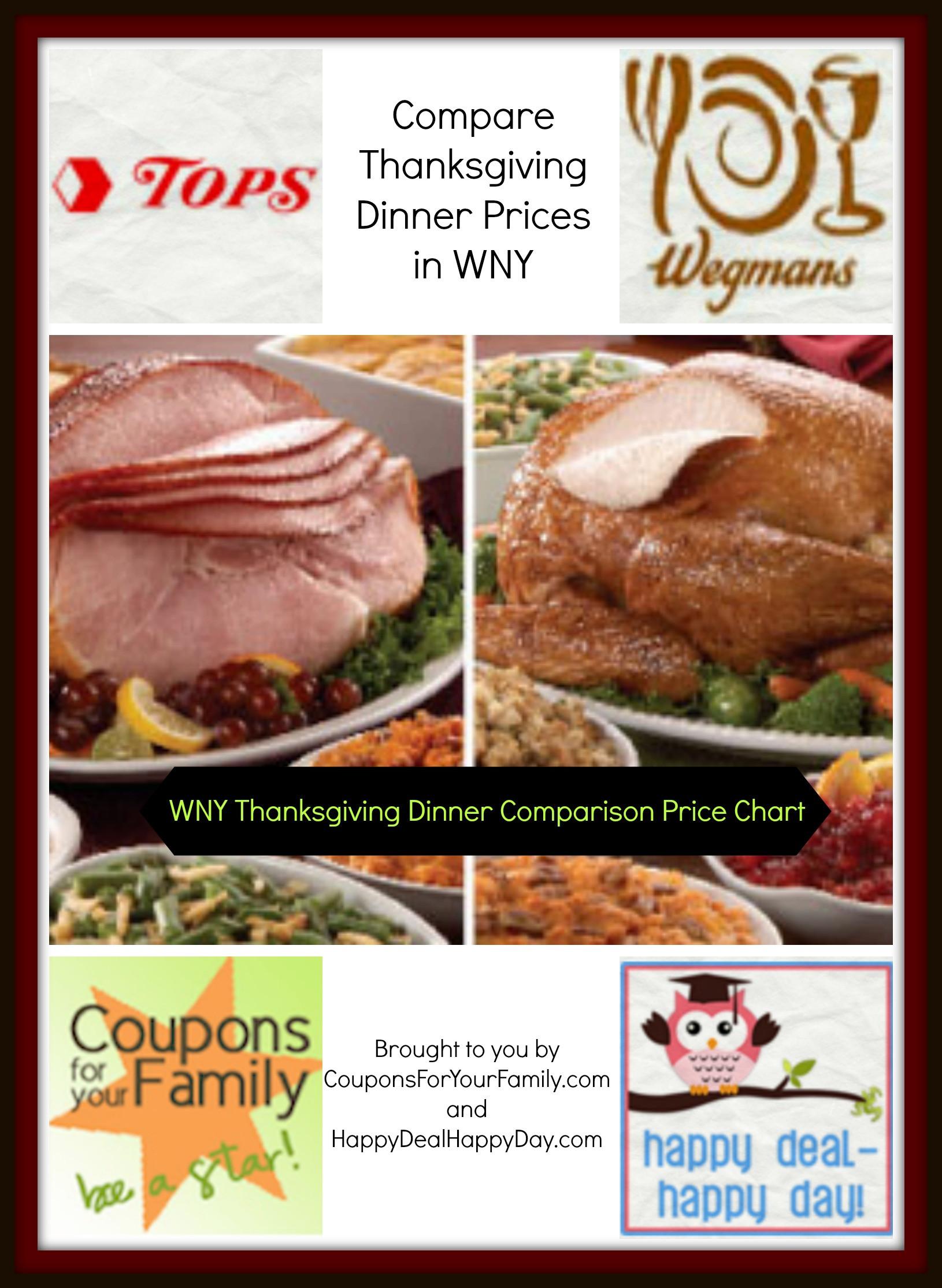 Wegmans Turkey Dinner Thanksgiving 2019  Check out our WNY Tops vs Wegmans vs Aldi parison Price