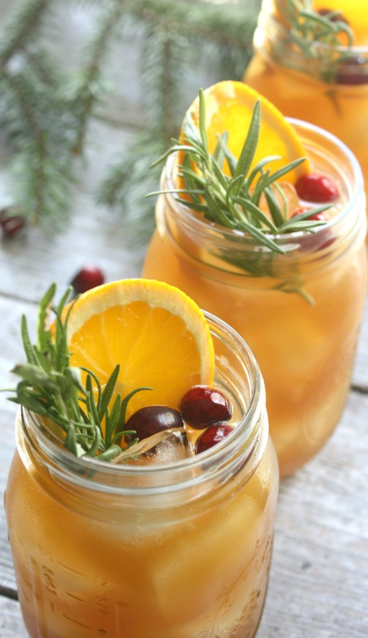 Whiskey Christmas Drinks  Holiday Bourbon Punch Daily Appetite