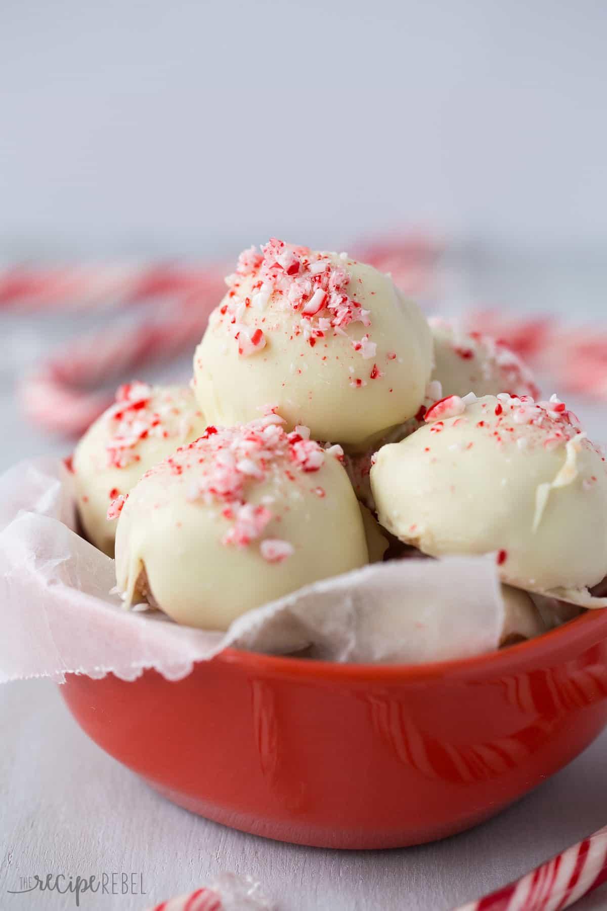 White Chocolate Candy Recipes For Christmas  No Bake White Chocolate Peppermint Oreo Truffles