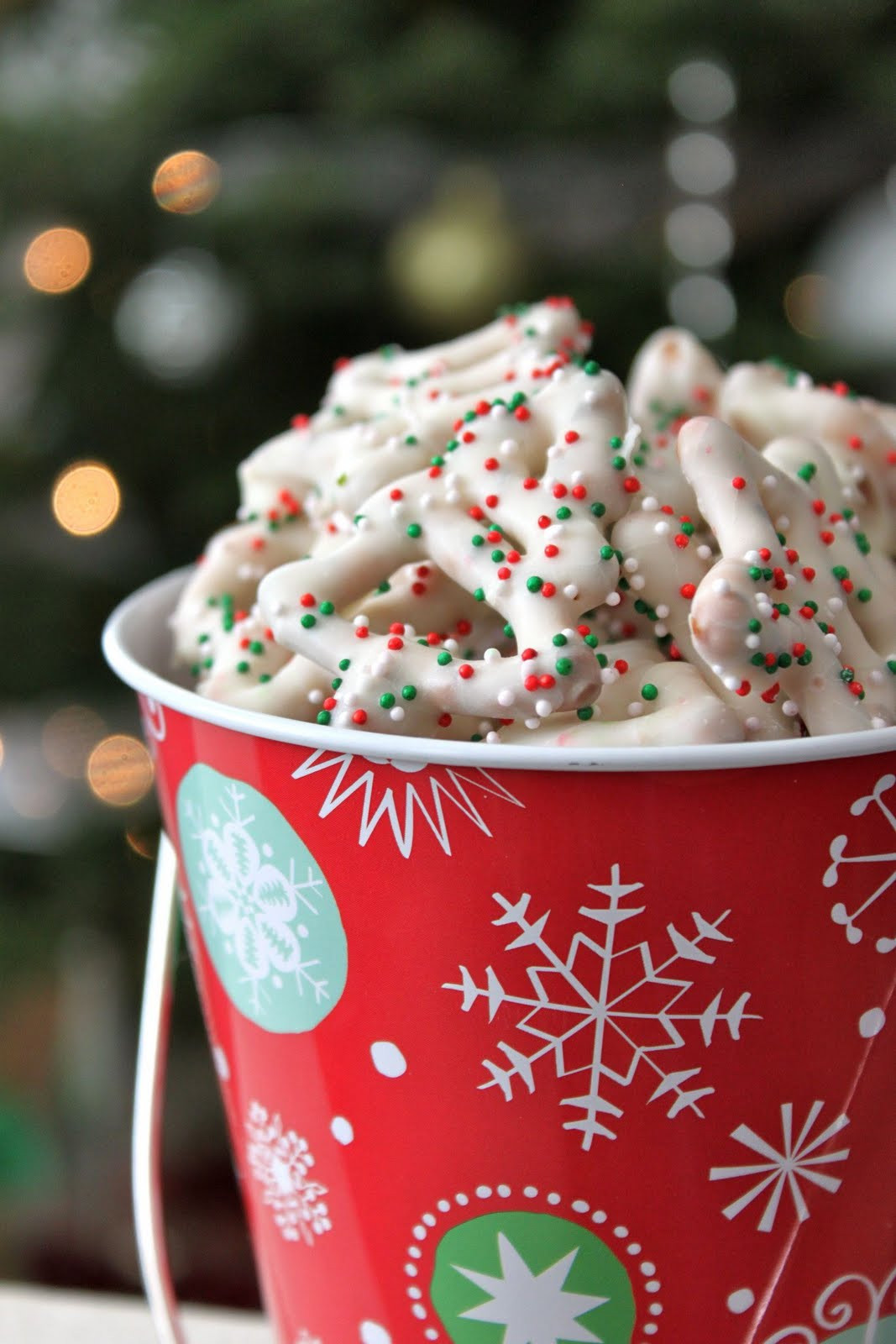 White Chocolate Christmas Candy  Baked Perfection White Chocolate Christmas Pretzels