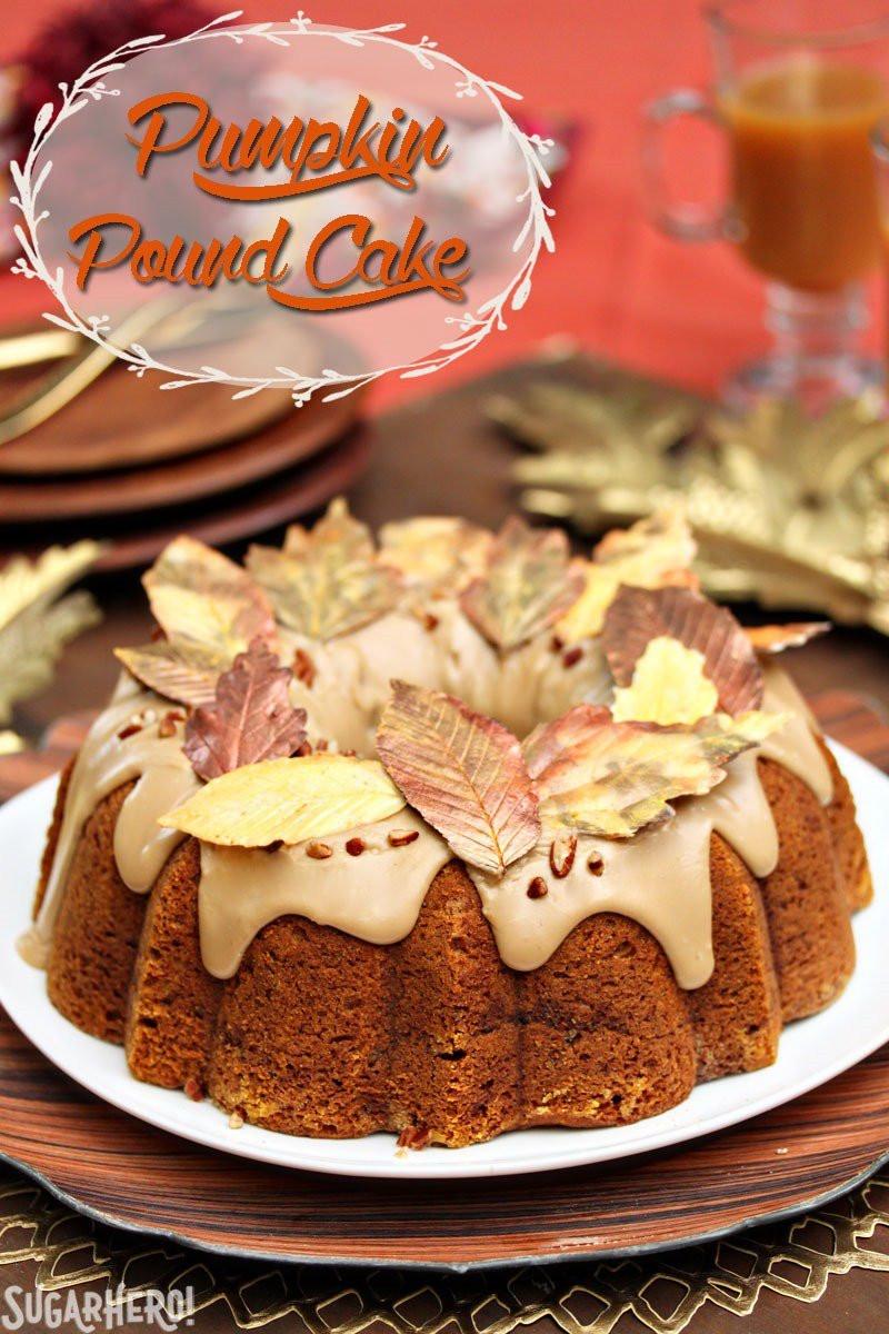 Why Did My Pound Cake Fall  Cinnamon Swirl Pumpkin Pound Cake SugarHero