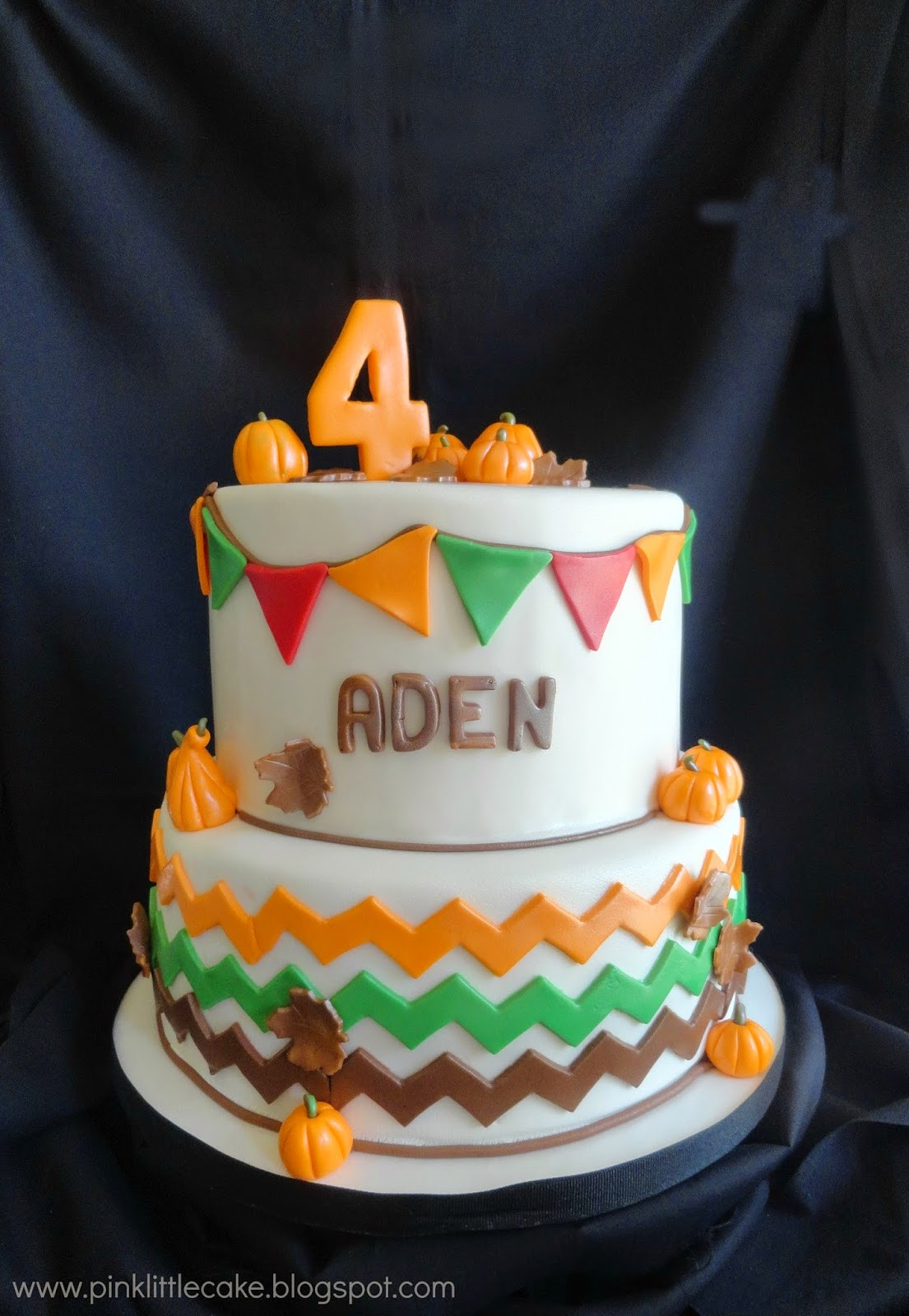 Why Did My Pound Cake Fall  Pink Little Cake Pumpkin Patch theme Birthday Cake