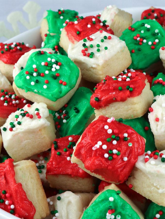 Yummy Christmas Cookies  Christmas Sugar Cookie Bites Two Sisters